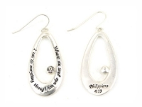 5030012 Philippians 4:13 Christian Scripture Bible Religious Earrings