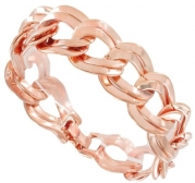 Rose Gold Plated Chain Bracelet Chunky Double Link