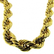 EDITION Men's 24 inch 20MM WIDE 24K gold DMC plated Rope Necklace chain run