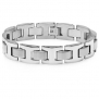 Men's Heavy Solid Stainless Steel Chain Link Bracelet 8 1/2 inches