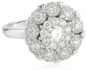 14K White Gold Cluster Circle Diamond Ring (1 Cttw, H-I Color, I1 Clarity), Size 7
