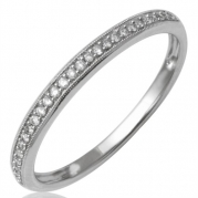 10k White Gold Diamond Wedding/Anniversary Ring Band (GH, I2-I3, 0.11 carat)