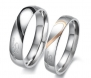 His & Hers Matching Set 5MM / 4MM Titanium Couple Wedding Band Set (Available Sizes 5MM 7 to 15 & 4MM 5 to 12 *BIG SIZE AVAILABLE*) Please e-mail sizes