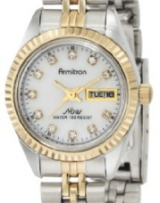 Armitron Women's 752475MOP NOW Swarovski Crystal Accented Two-Tone Mother-of-Pearl Dress Watch