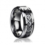 8MM Dragon Design Tungsten Carbide Wedding Band Ring (Available Sizes 5-14 Including Half Sizes) (8)
