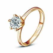 Yours Unique 18K Gold Plated Jewelry Use Austria Crystal Women Engagement Ring (6)
