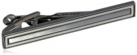 Kenneth Cole Reaction  Men's Hematite Tie Clip,Silver,One Size