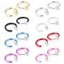 8 Pairs Value Pack Color Set Fake Clip On Earrings, Non Piercing Hoop Earrings, Fake Body Jewelry, Hypoallergenic (#M03. Shiny Color Set 1)