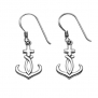 Stainless Steel Christian Anchor Wire Earrings
