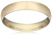 Men's 14K Yellow Gold 4mm Light Comfort Fit Wedding Band, Size 11