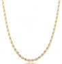 Goldtone 6mm 24 Inch Rope Chain Necklace