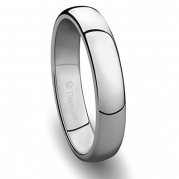 4MM Titanium Ring Classic Wedding Band with Polished Finish [Size 9]