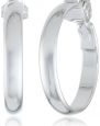 Anne Klein Classics Silver-Tone Clip Hoop Earrings
