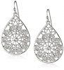 1928 Jewelry Basic Classics Silver-Tone Crystal Filigree Pearshape Drop Earrings