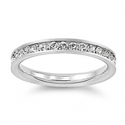Clear Eternity Ring-Sizes 3-4-5-Stainless Steel Imitation April Birthstone Ring-Small Ring for Fingers