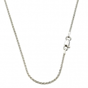 Sterling Silver 1.5mm Diamond Cut Rope Nickel Free Chain Necklace Italy, 18