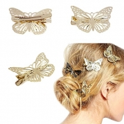 Meily® Golden Butterfly Hair Clip Headband Hair Accessories
