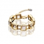 Termichy Crystal Tennis Link Gold Plated Bracelet, 7.3''+2.5'' Extender