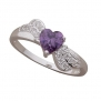New arrival silver plated fashion ring with purple imitation diamond nice ring for women and teen girls
