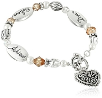 Dream, Believe, Achieve Silver & Crystal Expressively Yours Bracelet