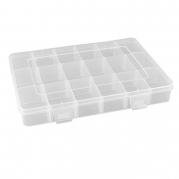 Adjustable 18 Components Earrings Jewelry Organizer Storage Box Holder Clear