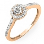 0.50 Carat (ctw) 14K Rose Gold Round Diamond Ladies Engagement Bridal Halo Ring 1/2 CT (Size 5)