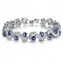 LOVE Beauties Titanium Cubic Zirconia Stone Bracelet Simple Korean Style in a Gift Box