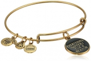 Alex and Ani Words are Powerful Everything Happens For A Reason Rafaelian Gold Finish Bangle Bracelet