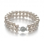 White 6-7mm A Quality Freshwater Pearl Bracelet-7.5 in length