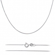 .7mm (14,16,18,20,22,24,30) Nikel Free Italian Sterling Silver .925 Box Chain Necklace (18)