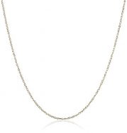 14k Yellow Gold Light Rope Chain Necklace, 18