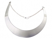 World Pride Fashion Mirror Finish Choker Necklace Collar (Silver Tone Plated)