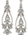 1928 Jewelry Bridal Crystal Silver-Tone Crystal Drop Earrings
