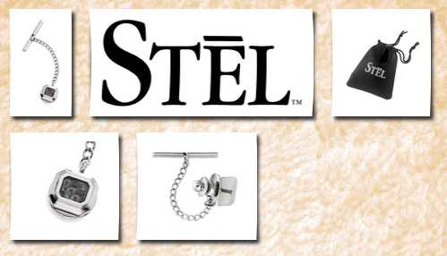 STEL stainless steel carbon fiber inlay tie tac
